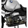 Černý ocelový padací rám Ibex pro BMW R1150GS. Díky důmyslné konstrukci perfektně ochrání motor při pádu. černá barva