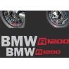Samolepky BMW R1200 na přední a zadní kolo pro R1200GS Adventure LC 2014+, stříbrno-červené