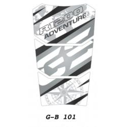 Tankpad na nádrž pro R1200GS Adventure LC 2014+, šedo-bílo-černý