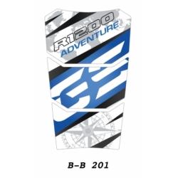Tankpad na nádrž pro R1200GS Adventure LC 2014+, modro-bílý