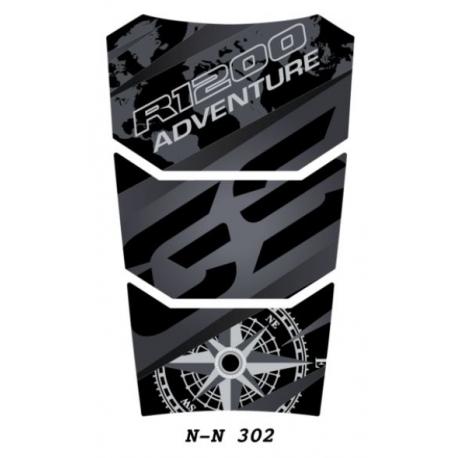 Tankpad na nádrž pro R1200GS Adventure LC 2014+, černo-černý