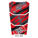 Tankpad na nádrž pro R1200GS Adventure LC 2014+, červeno-černý