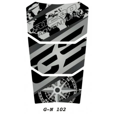 Tankpad na nádrž pro R1200GS Adventure LC 2014+, černo-šedý