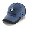 Modrá čepice BMW Motorrad s vyšitým logem