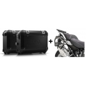 ALU boční kufry SW-Motech Trax ION + nosiče pro R1250GS/A, R1200GS/A LC 2013-2018, černé