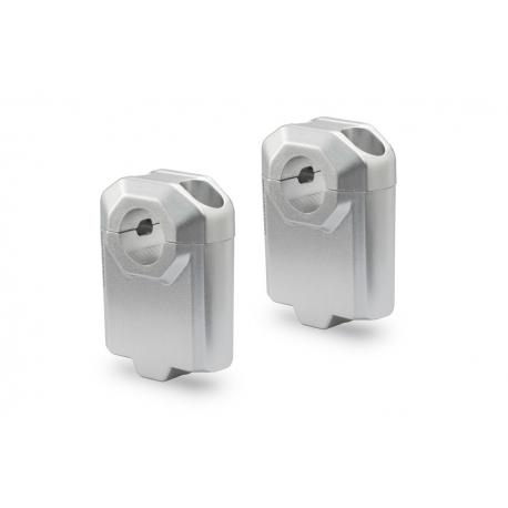 Zvýšení řidítek SW-Motech o 50mm nahoru pro 22mm řidítka, stříbrné