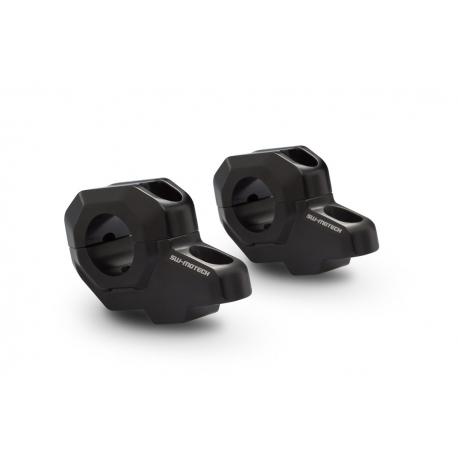 Zvýšení řidítek SW-Motech o 30mm nahoru, 21mm dozadu pro řidítka Ø22mm , černé