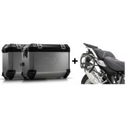 ALU boční kufry SW-Motech Trax ION + nosiče pro R1250GS/A, R1200GS/A LC 2013-2018, stříbrné