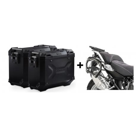 ALU boční kufry SW-Motech Trax Adventure + nosiče pro R1250GS/A, R1200GS/A LC 2013-2018, černé