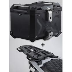 ALU topcase SW-Motech Trax Adventure 38l + plotna pro R1250GS, R1200GS LC 2013-2018, černý