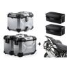 3x ALU kufry SW-Motech Trax Adventure + tašky + nosiče pro R1250GS, R1200GS LC 2013-2018, stříbrné