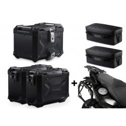 3x ALU kufry SW-Motech Trax Adventure + tašky + nosiče pro F800GS, F700GS, F650GS 2008+, černé