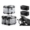 3x ALU kufry SW-Motech Trax Adventure + tašky + nosiče pro F800GS, F700GS, F650GS 2008+, stříbrné