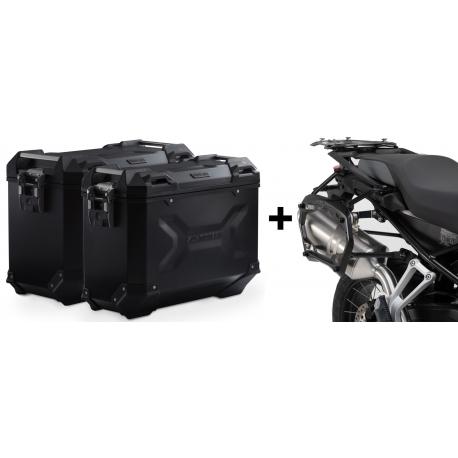 ALU boční kufry SW-Motech Trax Adventure + nosiče pro F850GS, F750GS, černé