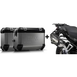 ALU boční kufry SW-Motech Trax ION + nosiče pro F850GS, F750GS, stříbrné