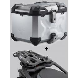 ALU topcase SW-Motech Trax Adventure 38l + plotna pro F850GS, F750GS, stříbrný