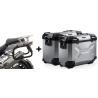 ALU boční kufry SW-Motech Trax Adventure + nosiče pro R1200GS/A 2004-2012, stříbrné