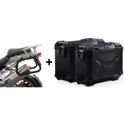 ALU boční kufry SW-Motech Trax Adventure + nosiče pro R1200GS/A 2004-2012, černé