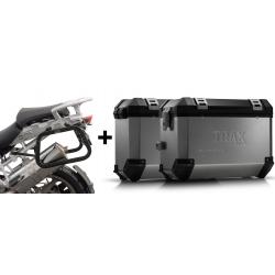 ALU boční kufry SW-Motech Trax ION + nosiče pro R1200GS/A 2004-2012, stříbrné