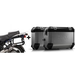 ALU boční kufry SW-Motech Trax ION + nosiče pro R1150GS/A, R1100GS, stříbrné