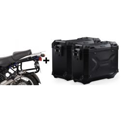 ALU boční kufry SW-Motech Trax Adventure + nosiče pro R1150GS/A, R1100GS, černé
