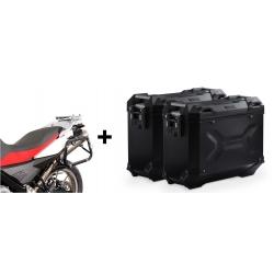 ALU malé boční kufry SW-Motech Trax Adventure + nosiče pro F650GS/Dakar, G650GS, černé