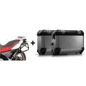 ALU malé boční kufry SW-Motech Trax ION + nosiče pro F650GS/Dakar, G650GS, stříbrné