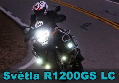 Přídavná světla a držáky pro BMW R1200GS LC
